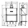 HITZE - Teplovzdušná krbová vložka - Trinity 80x35x53.G - C model - 12 kW