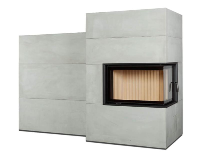 Brunner - Systémová pec - Systémová pec BSG 02 pravá s vedla stojacou akumulačnou masou, nasúvací rám čierny - 5,5 kW