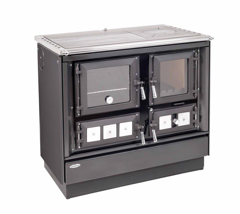 KVS Moravia - Sporák s teplovodným výmenníkom - VSP 9112-V KLAUDIA, antracit - 9-12 kW