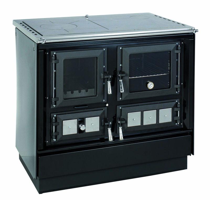 KVS - MORAVIA - Sporák s teplovodým výmeníkom - VSP - 9112 - KLAUDIA /pravý.čierny/