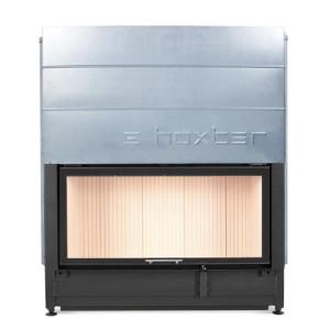 Hoxter - Teplovzdušná krbová vložka - KV HAKA 110/51, horevýsuvné dvierka, oceľový výmenník, čierne, jednoduché presklenie - 13,5 kW