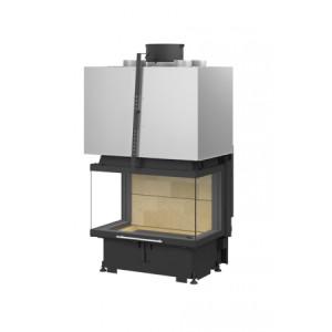 TOTEM - teplovzdušná krbová vložka - 3-Faces 800 tech - 13 kW