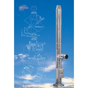 KAMINA - Trojvrstvový fasádny komín 25 mm izolácia, D 160 / 8 m