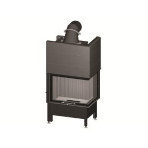 Spartherm - teplovodná krbová vložka - KV Varia 2Rh H2O , horevýsuvné dvierka, Linear 4S štandard, jednoduché presklenie - 10,4 kW