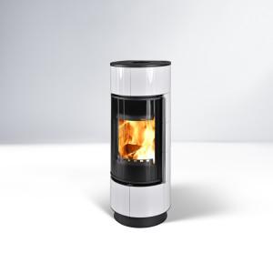 Thorma - teplovzdušné krbové kachle - ATIKA Keramik Extra Biela - 7,5 kW