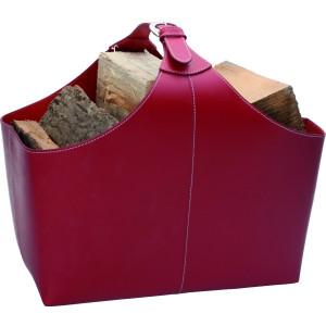 TermaTech - BASIC Red (98-232) - kožený kôš na drevo