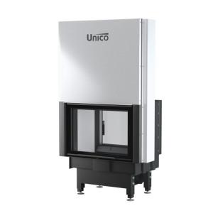 UNICO - Teplovzdušná krbová vložka - zdvih - DRAGON 2 DUO LIFT (Raster), 4-13 kW
