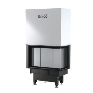 UNICO - Teplovzdušná krbová vložka - zdvih - DRAGON 2B LIFT (Raster), 4-13 kW