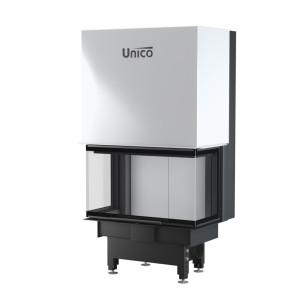 UNICO - Teplovzdušná krbová vložka - zdvih - DRAGON 2 C LIFT (Raster), 4-13,7 kW