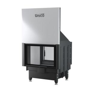 UNICO - Teplovzdušná krbová vložka - zdvih - DRAGON 4 DUO LIFT (Raster), 5-15,5 kW