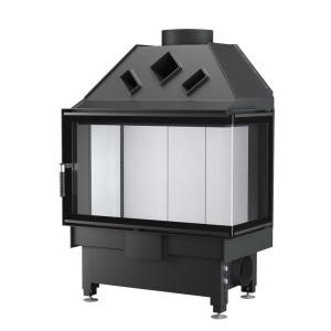 UNICO - Teplovzdušná krbová vložka - DRAGON 4B SLIM (Raster), 4-14 kW