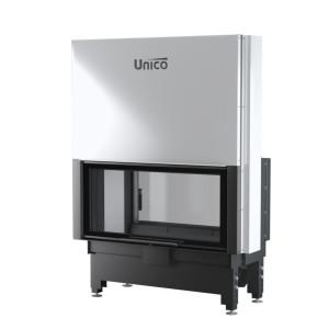 UNICO - Teplovzdušná krbová vložka - zdvih - DRAGON 9 DUO LIFT (Raster), 4-13 kW