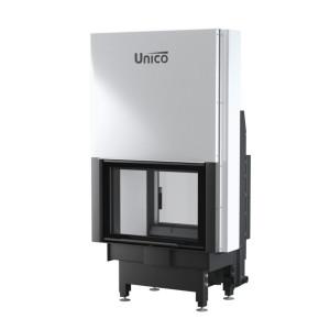 UNICO - Teplovodná krbová vložka - zdvih - NEMO 2 DUO LIFT (Raster), 16 kW