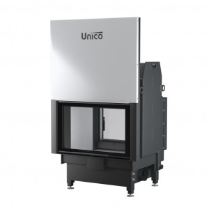 UNICO - Teplovodná krbová vložka - zdvih - NEMO 4 DUO LIFT (Raster), 21 kW