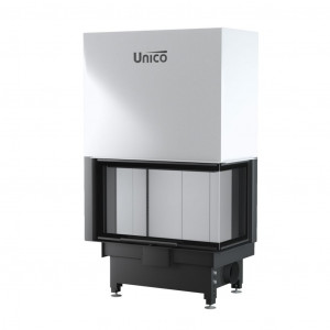 UNICO - Teplovodná krbová vložka - zdvih - NEMO 4B / 20 TOPECO LIFT (Raster), 13-19,5 kW