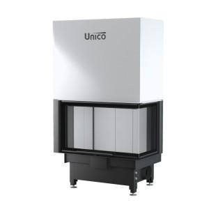 UNICO - Teplovodná krbová vložka - zdvih - NEMO 4B / 24 TOPECO LIFT (Raster), 14,5-21 kW