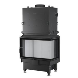 UNICO - Teplovodná krbová vložka - NEMO 4B / 24 TOPECO (Raster), 21 kW