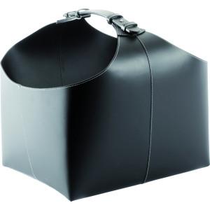 TermaTech - PREMIUM Black (98-210) - kožený kôš na drevo