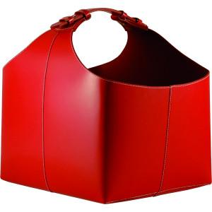 TermaTech - PREMIUM Red (98-212) - kožený kôš na drevo