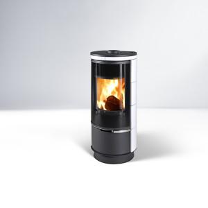 Thorma - teplovzdušné krbové kachle - ANDORRA Plus, keramika biela - 7,5 kW