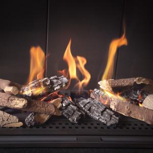Keramické polienka do plynových spotrebičov