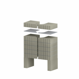 Romotop - AKUMULAČNÁ SADA pre designový krb CARA C, CARA R/L
