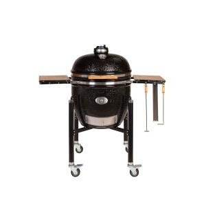MONOLITH BBQ GURU EDITION LeCHEF - Čierna s vozíkom a bočnými policami Ø 72 cm