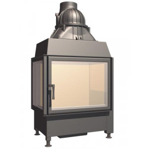 SCHMID - Teplovzdušná krbová vložka - EKKO L 67 (mit steg) - 9 kW