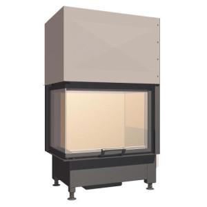 SCHMID - Teplovzdušná krbová vložka - EKKO L 67 h - 9 kW