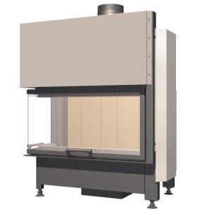 SCHMID - Teplovzdušná krbová vložka - EKKO L 84 h - 9 kW