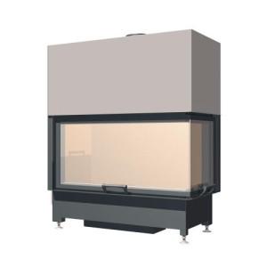 SCHMID - Teplovzdušná krbová vložka - EKKO R 100 h, delené sklo - 9 kW