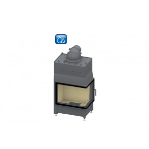SCHMID - teplovodná krbová vložka - Ekko W R 67(45)51 s, steglos - 14,9 kW