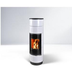 Thorma - teplovzdušné krbové kachle - DELIA Keramik Plus Biela - 7,5 kW