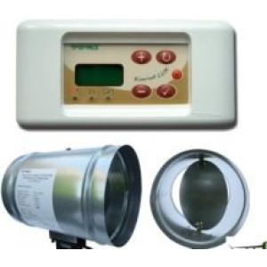 Tatarek - Regulátor vykurovacieho systému krbu,riadeného pomocou vzduchovej klapky o 120 mm RT 08 P LUX podomietkový - teplovodný