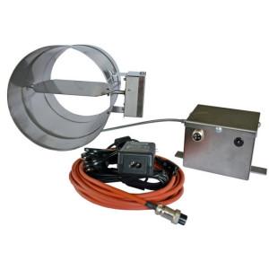 FireControls - Elektronická regulácia - Klapka komínová škrtiaca so snímačom, 200 mm priemer