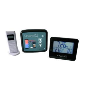 FireControls - Elektronická regulácia - Regulácia elektronická GRAND ECO H2O, s klapkou, čierna