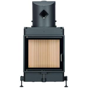 Brunner - teplovzdušná krbová vložka - KK otváracie dvierka, 51/55, oblúkové sklo, čierne, jednoduché presklenie, ľavé otváranie -  8 kW