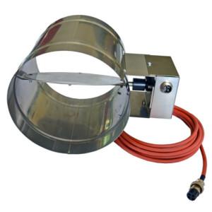 FireControls - Elektronická regulácia - Klapka vzduchová, sacia, so servom, priemer 125 mm