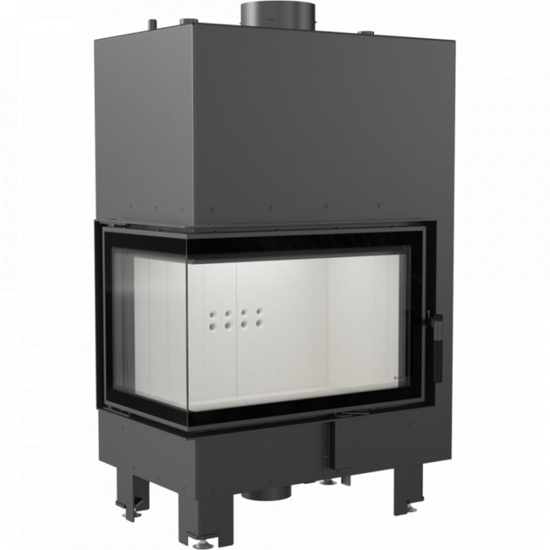 eecc6726c3 Kratki - teplovodná krbová vložka - MBM BS ľavé presklenie s dochladzovacou  špirálou - 10 kW