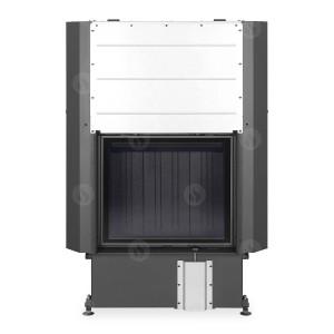Romotop - Teplovzdušná krbová vložka -IMPRESSION 2g L 67.60.01 s čiernou spaľovacou komorou s výsuvnými dvierkami a dvojitým presklením