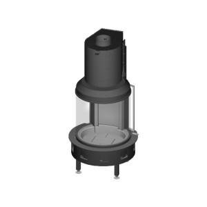 Spartherm - Teplovzdušná oceľová krbová vložka - KV Magic, otočné dvierka elektrické, Prestige štandard, jednoduché presklenie - 12 kW