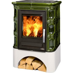 ABX - teplovodné krbové kachle - Marina KP, zelená - 10,5 kW