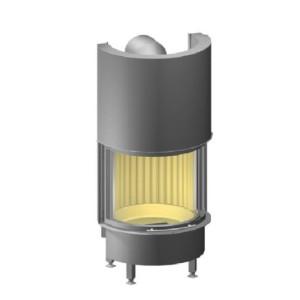 Spartherm - Teplovzdušná oceľová krbová vložka - Speedy MDRh Prestige oblúk, so zdvihom, dvierka 57x62,2 cm - 9 kW