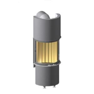 Spartherm - Teplovzdušná oceľová krbová vložka - Speedy Ph 4S Linear, oblúk, so zdvihom, dvierka 57x50,3 cm - 7 kW