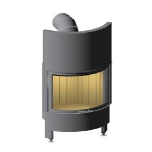 Spartherm - Teplovzdušná oceľová krbová vložka - Speedy Rh Prestige, oblúk, so zdvihom, dvierka 51x67,8 cm - 9 kW