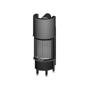 Spartherm - Teplovzdušná oceľová krbová vložka - KV Speedy P, horevýsuvné dvierka, Linear 4S štandard, jednoduché presklenie -  12 kW