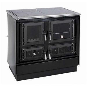 KVS Moravia - Sporák s teplovodným výmenníkom - VSP 9112-V KLAUDIA, čierna - 9-12 kW