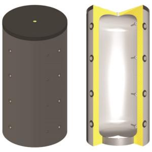 SCHINDLER+HOFMANN - Akumulačná nádrž TPSM1250 s izoláciou