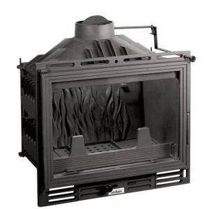 Uniflam - teplovzdušná liatinová krbová vložka - Uniflam 600, s klapkou - 8 kW