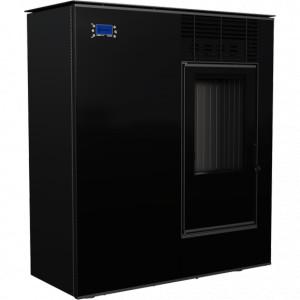 Kratki - teplovzdušné krbové kachle na pelety - VIKING 8, čierne - 8 kW